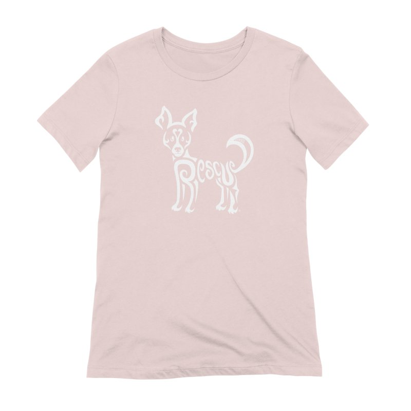 Rescued Dog Rebel Design Women's Extra Soft T-Shirt by Flying Canines Shop