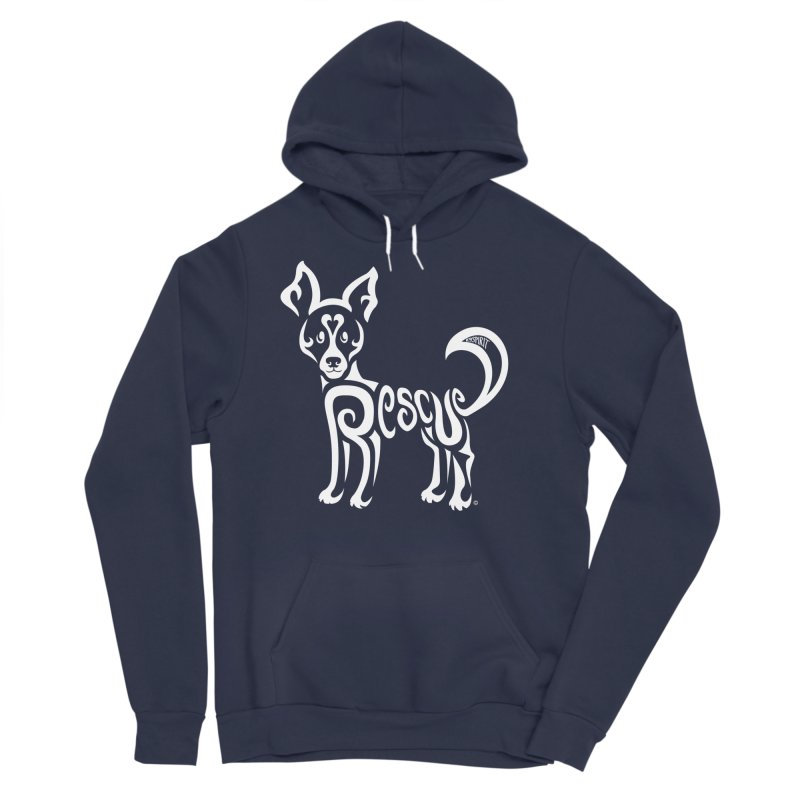 Rescued Dog Rebel Design Women's Sponge Fleece Pullover Hoody by Flying Canines Shop