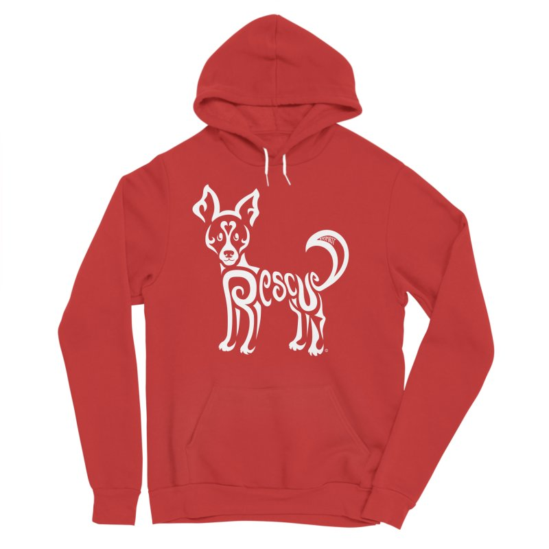 Rescued Dog Rebel Design Women's Pullover Hoody by Flying Canines Shop