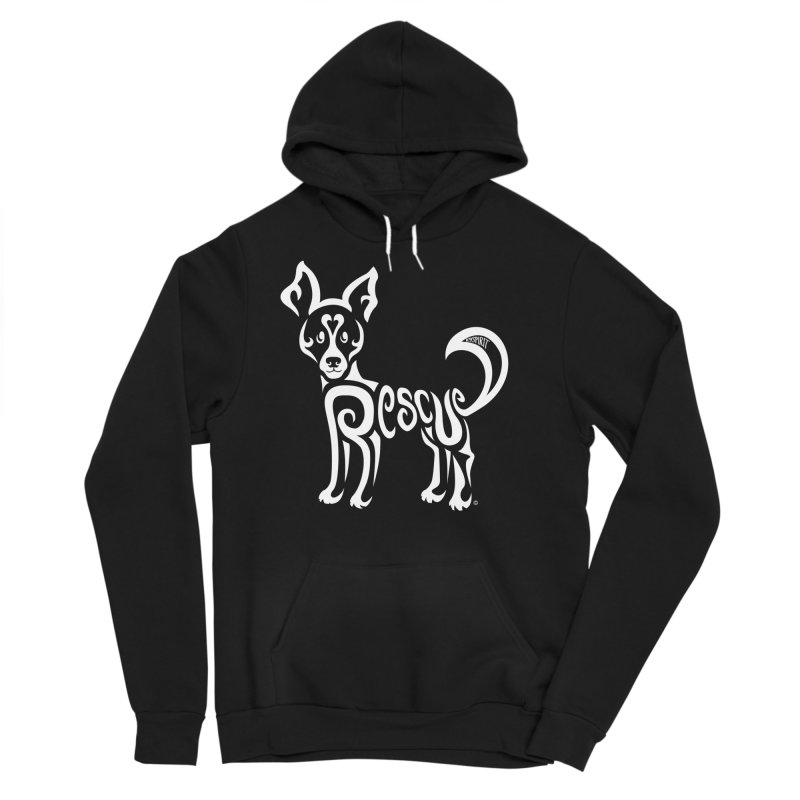 Rescued Dog Rebel Design Men's Sponge Fleece Pullover Hoody by Flying Canines Shop