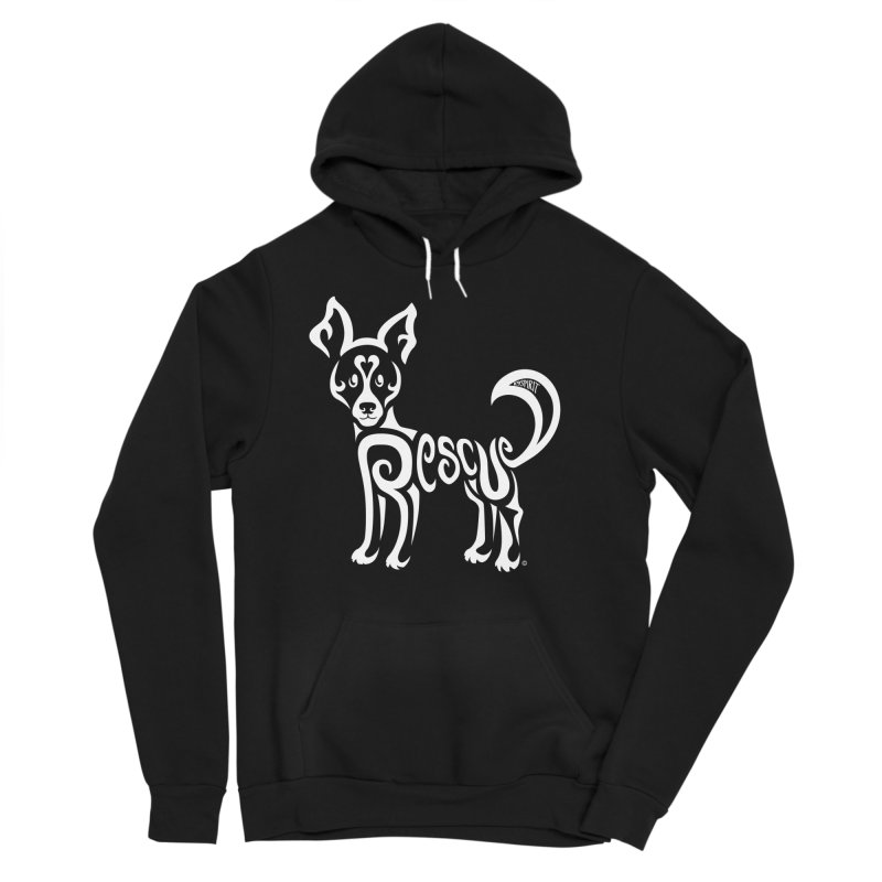 Rescued Dog Rebel Design Women's Sponge Fleece Pullover Hoody by Flying Canines Shop