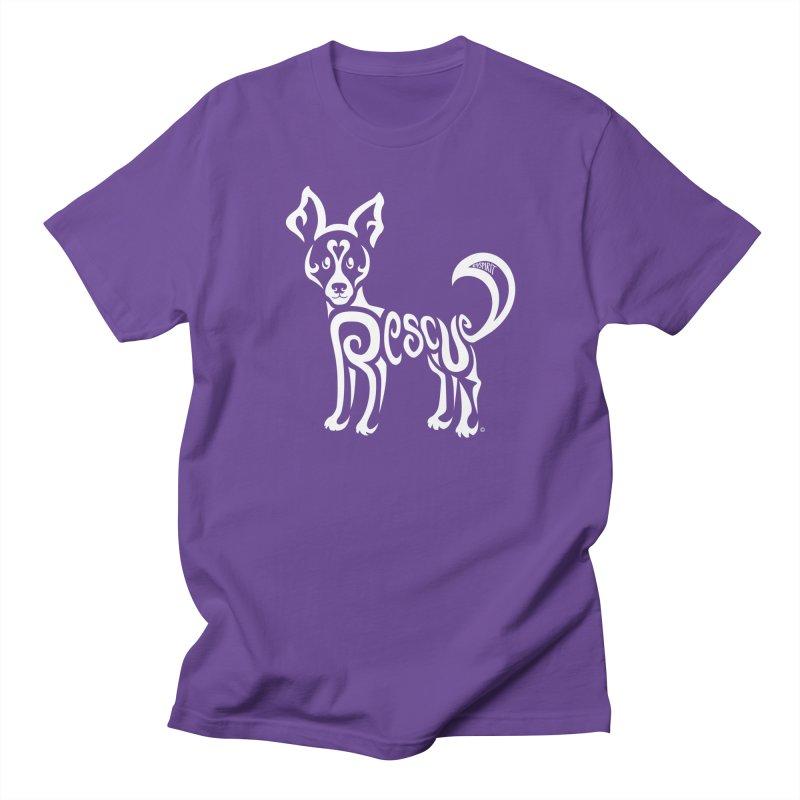 Rescued Dog Rebel Design Men's T-Shirt by Flying Canines Shop