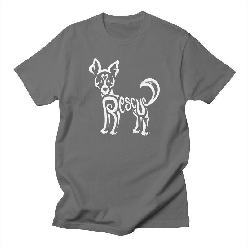 Rescued Dog Rebel Design Men's Regular T-Shirt by Flying Canines Shop