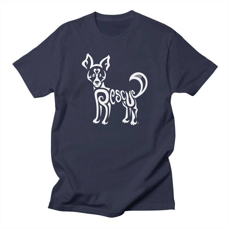 Rescued Dog Rebel Design Women's Regular Unisex T-Shirt by Flying Canines Shop