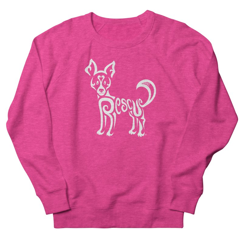 Rescued Dog Rebel Design Women's French Terry Sweatshirt by Flying Canines Shop