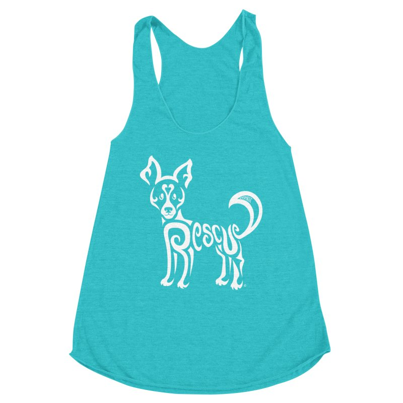 Rescued Dog Rebel Design Women's Tank by Flying Canines Shop