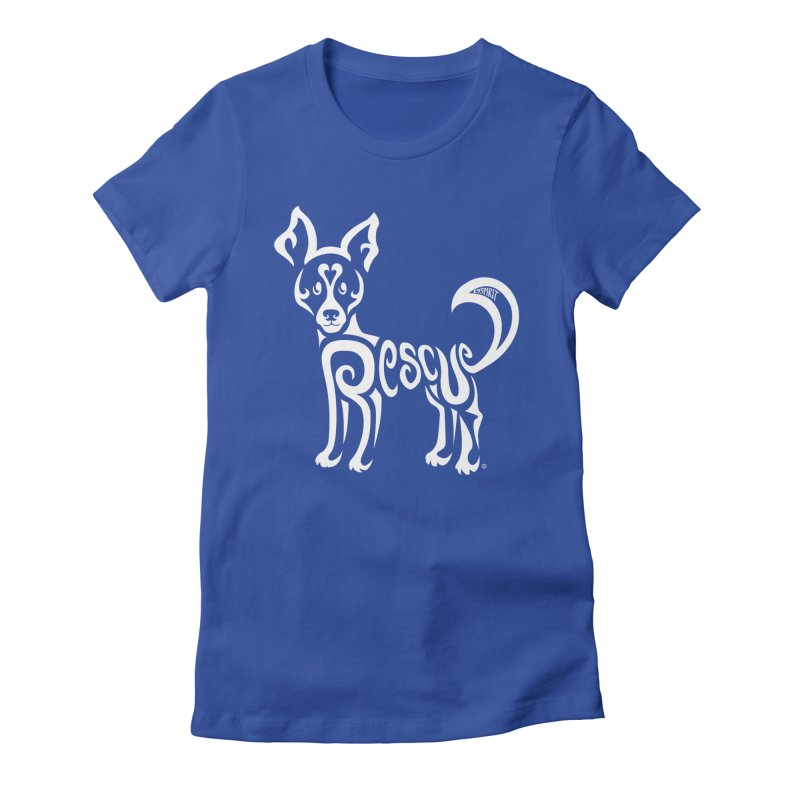 Rescued Dog Rebel Design Women's T-Shirt by Flying Canines Shop