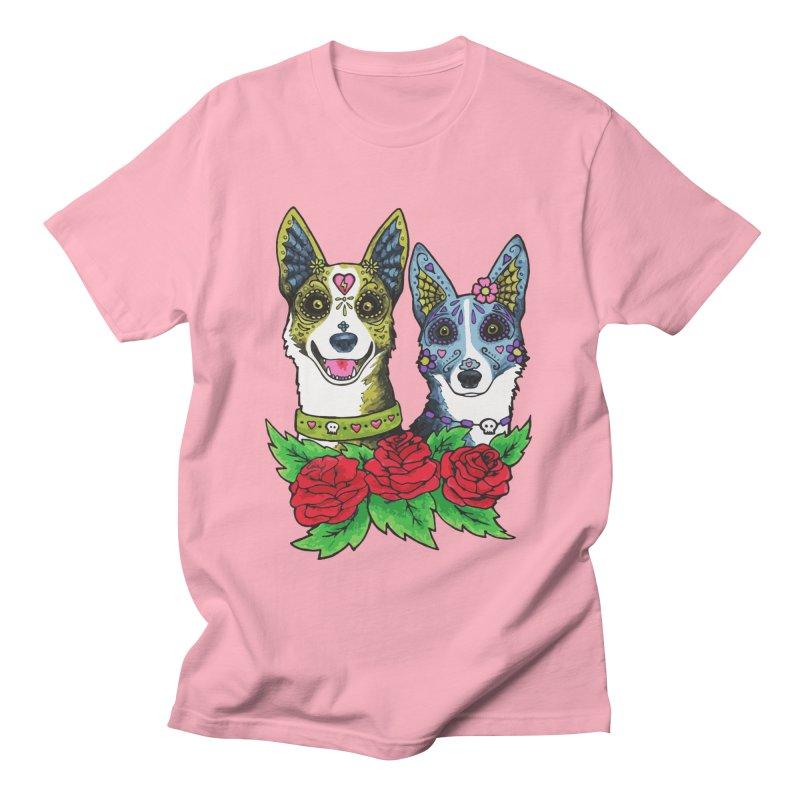 Sugar Skull Dogs Design Men's T-Shirt by Flying Canines Shop