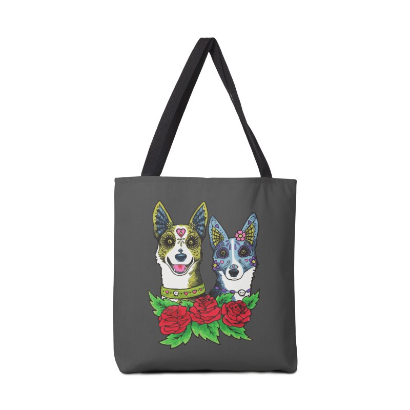 Sugar Skull Dogs Design Accessories Bag by Flying Canines Shop