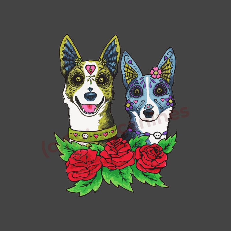 Sugar Skull Dogs Design Men's T-Shirt by Flying Canines Shop
