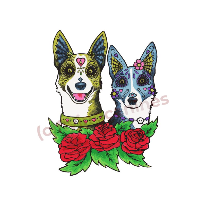 Sugar Skull Dogs Design by Flying Canines Shop