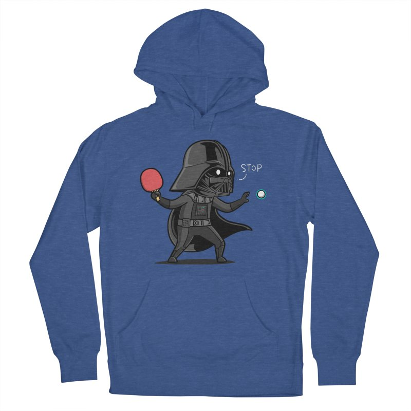 Sporty Buddy - Table Tennis Men's French Terry Pullover Hoody by Flying Mouse365