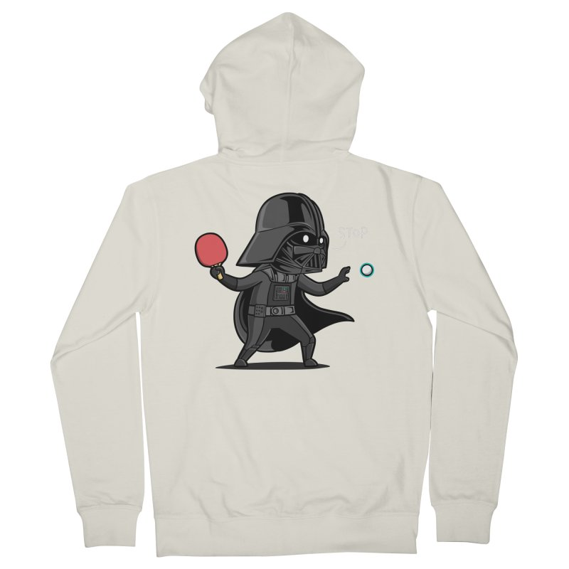 Sporty Buddy - Table Tennis Men's French Terry Zip-Up Hoody by Flying Mouse365