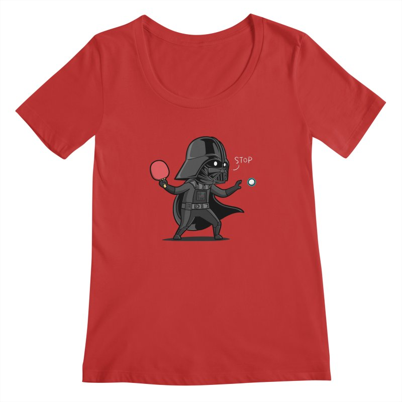 Sporty Buddy - Table Tennis Women's Regular Scoop Neck by Flying Mouse365