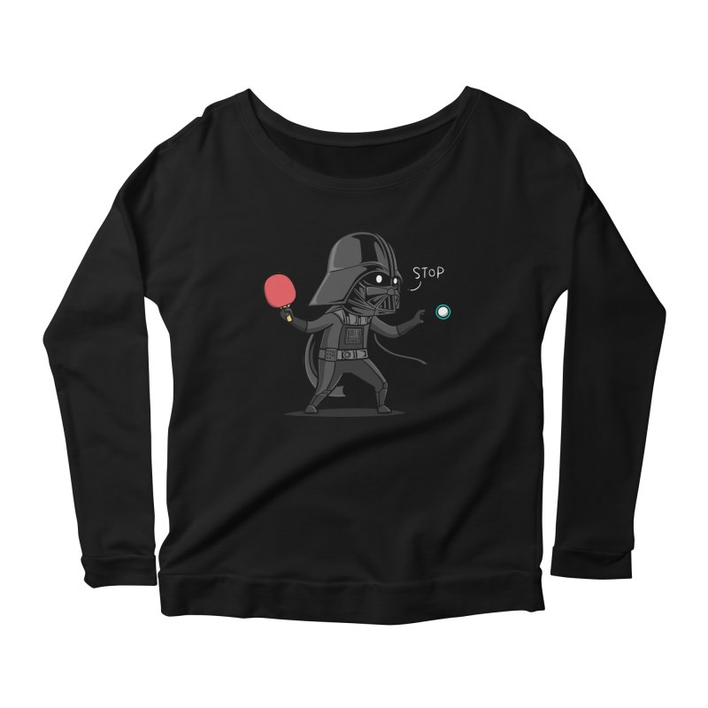 Sporty Buddy - Table Tennis Women's Scoop Neck Longsleeve T-Shirt by Flying Mouse365