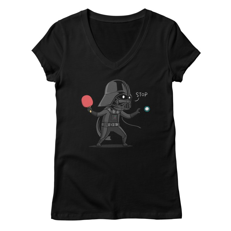 Sporty Buddy - Table Tennis Women's V-Neck by Flying Mouse365