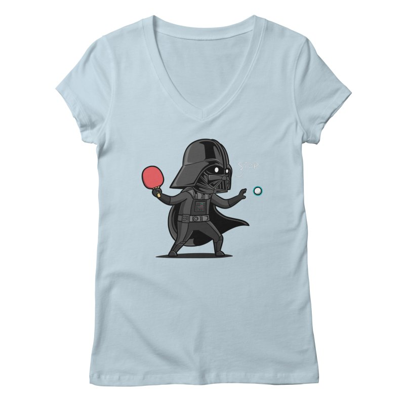 Sporty Buddy - Table Tennis Women's Regular V-Neck by Flying Mouse365