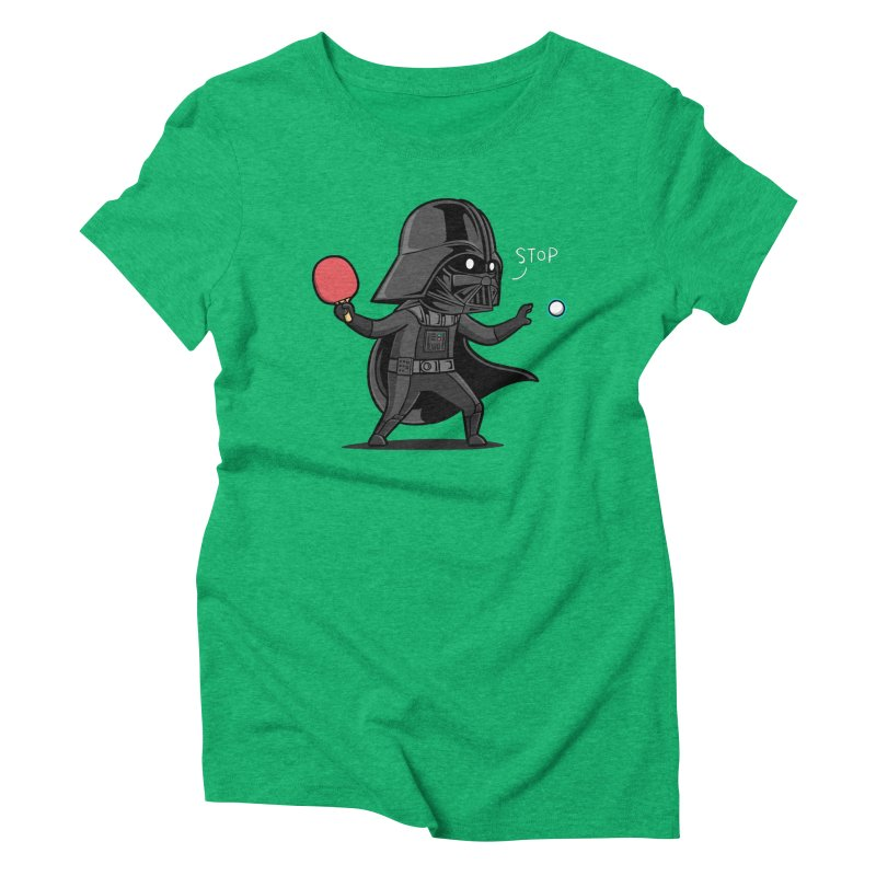 Sporty Buddy - Table Tennis Women's Triblend T-Shirt by Flying Mouse365
