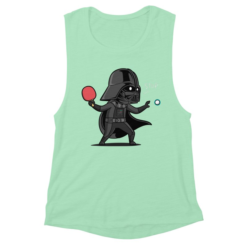 Sporty Buddy - Table Tennis Women's Muscle Tank by Flying Mouse365