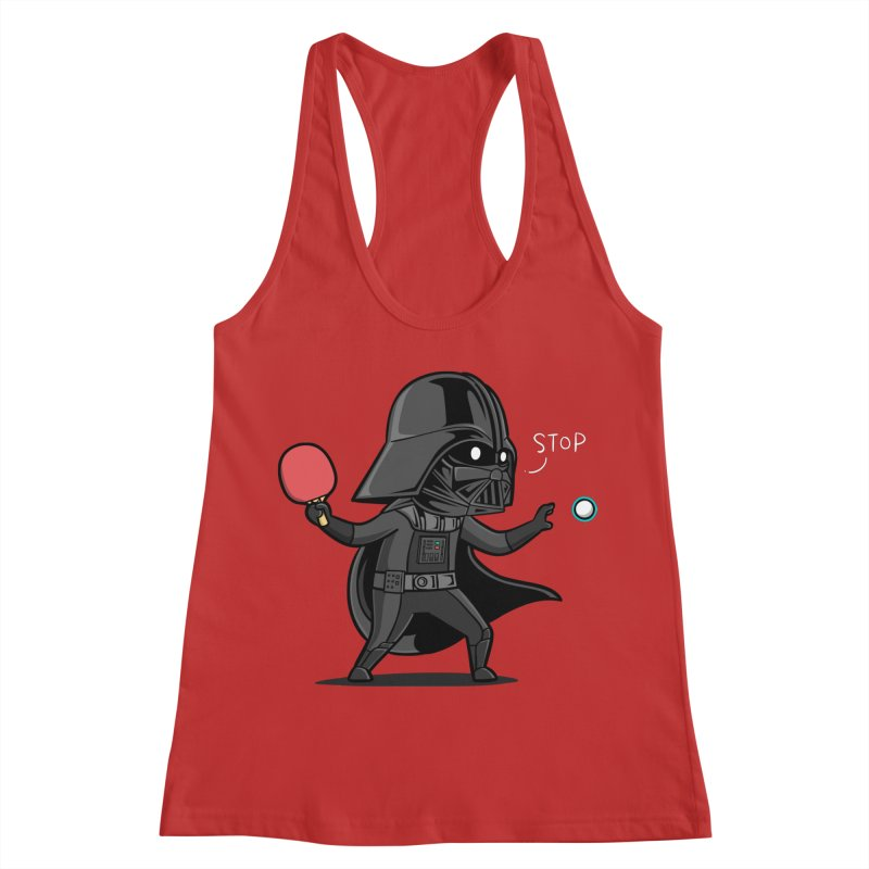 Sporty Buddy - Table Tennis Women's Racerback Tank by Flying Mouse365