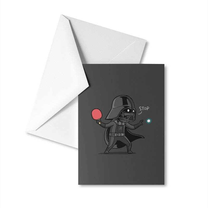 Sporty Buddy - Table Tennis Accessories Greeting Card by Flying Mouse365