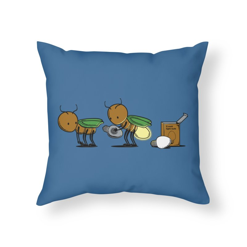 Changing Bulb Home Throw Pillow by Flying Mouse365