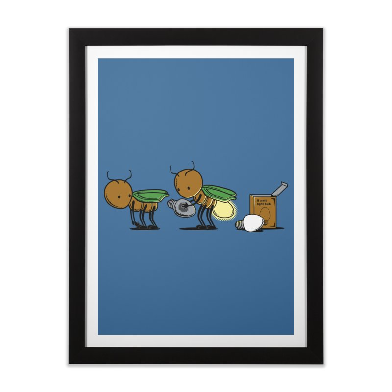 Changing Bulb Home Framed Fine Art Print by Flying Mouse365