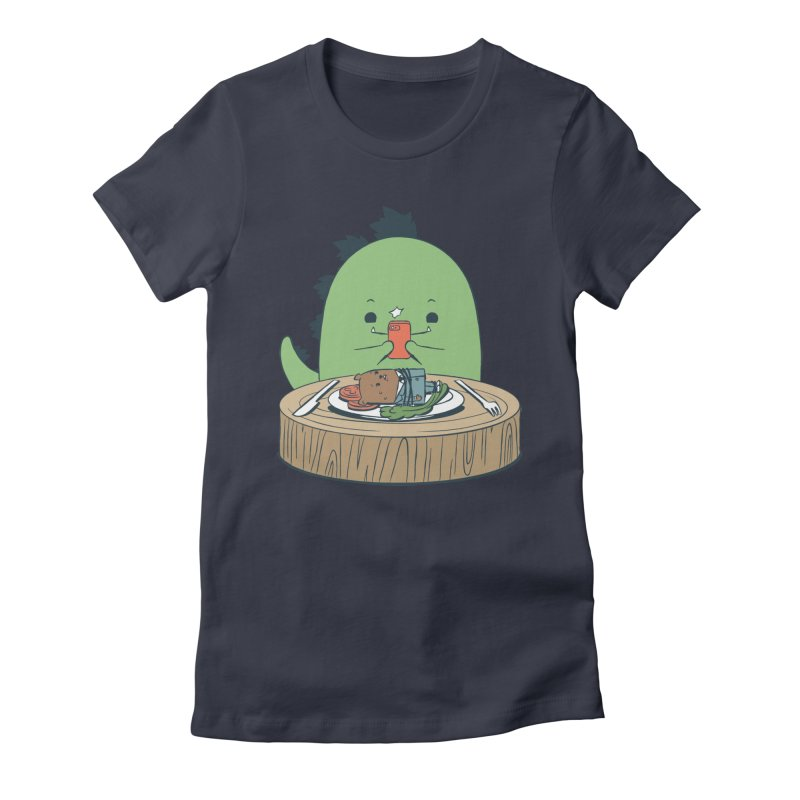 EDDIE TEDDY - Food Photo Women's Fitted T-Shirt by Flying Mouse365