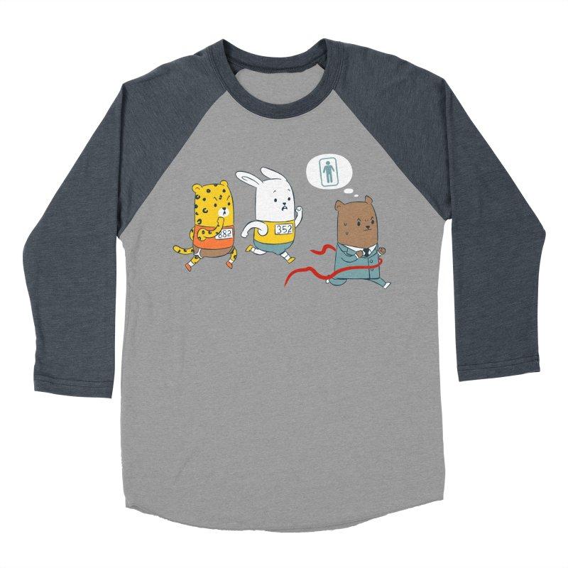 EDDIE TEDDY - Champion Runner Women's Baseball Triblend Longsleeve T-Shirt by Flying Mouse365