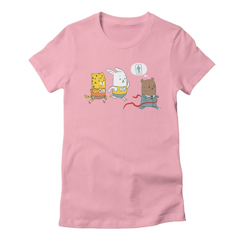 EDDIE TEDDY - Champion Runner Women's Fitted T-Shirt by Flying Mouse365