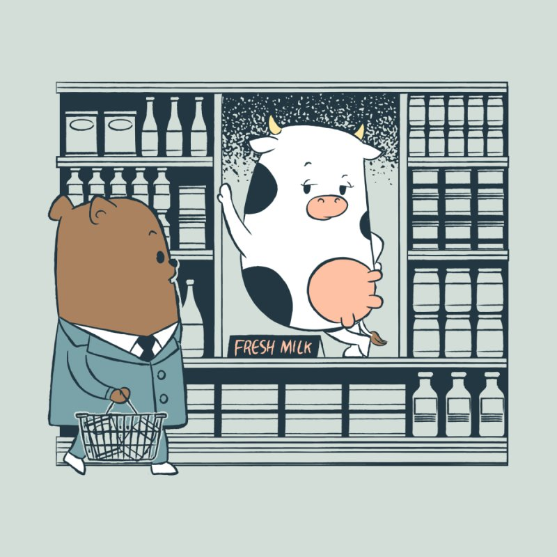 EDDIE TEDDY - Fresh Milk None  by Flying Mouse365