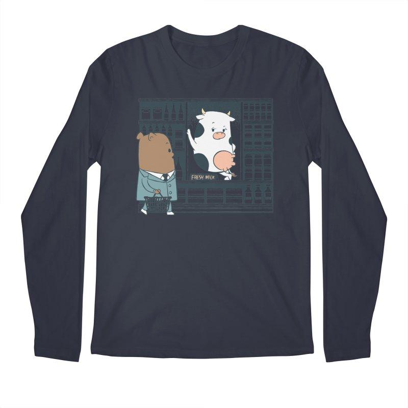 EDDIE TEDDY - Fresh Milk Men's Regular Longsleeve T-Shirt by Flying Mouse365