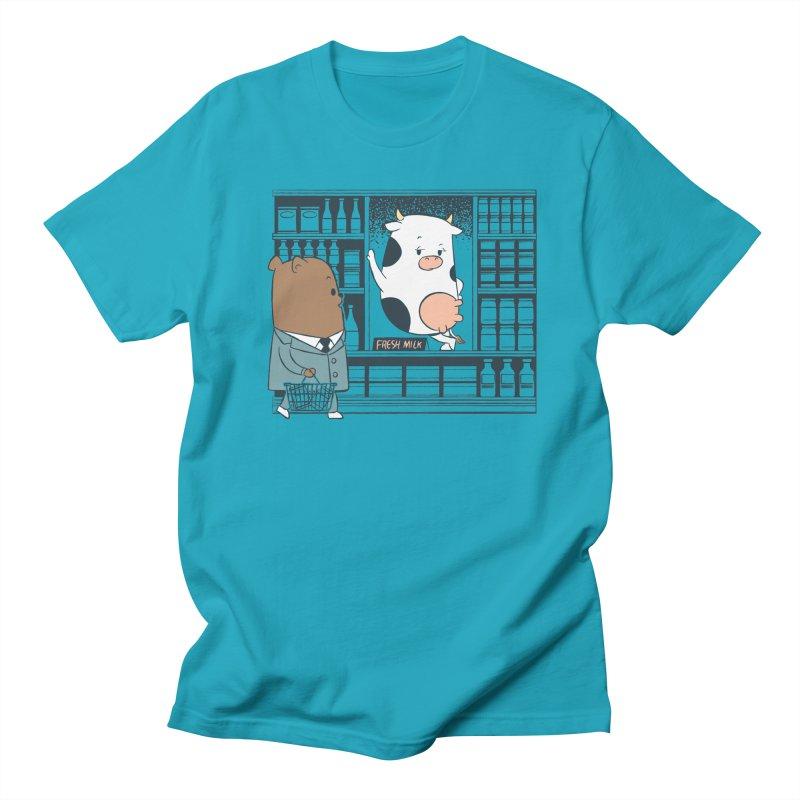 EDDIE TEDDY - Fresh Milk Men's Regular T-Shirt by Flying Mouse365