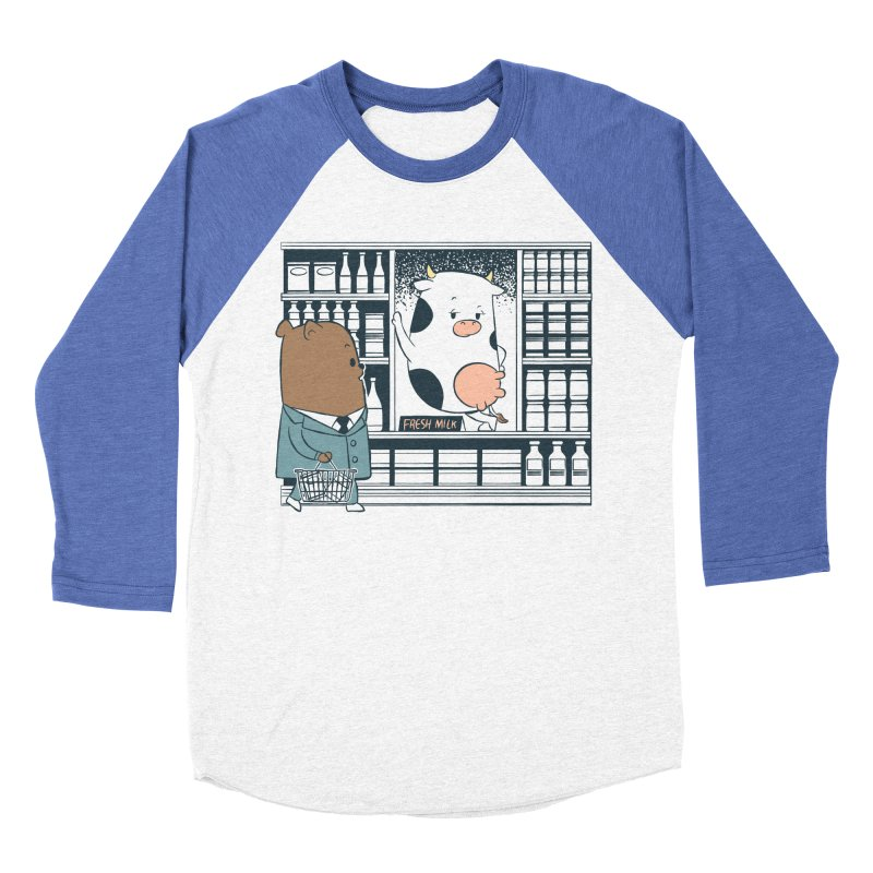 EDDIE TEDDY - Fresh Milk Women's Baseball Triblend Longsleeve T-Shirt by Flying Mouse365