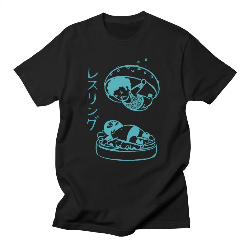 OH MY GOR - Wrestling Burger Women's Unisex T-Shirt by Flying Mouse365