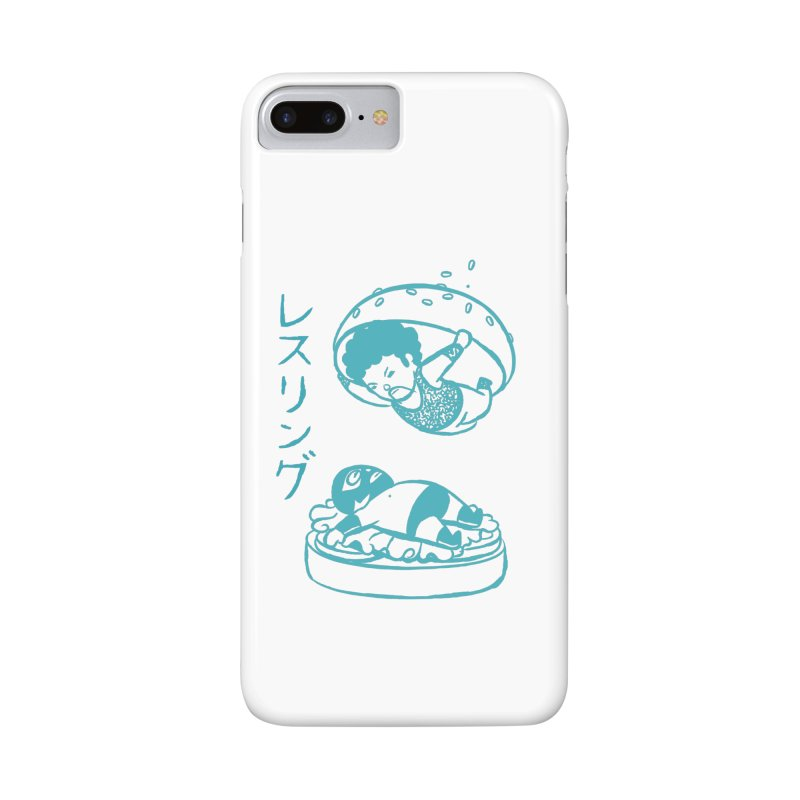 OH MY GOR - Wrestling Burger Accessories Phone Case by Flying Mouse365