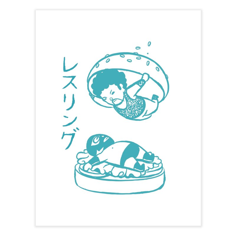 OH MY GOR - Wrestling Burger   by Flying Mouse365