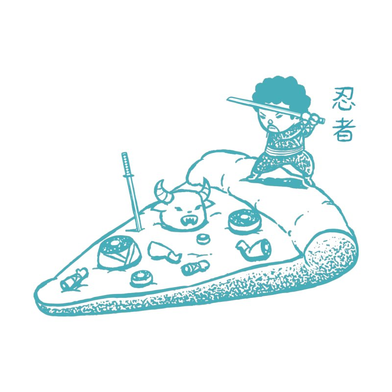 Ninja Pizza None  by Flying Mouse365