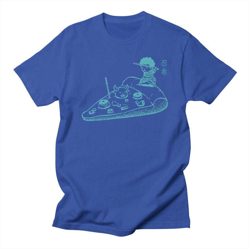 Ninja Pizza Men's T-Shirt by Flying Mouse365