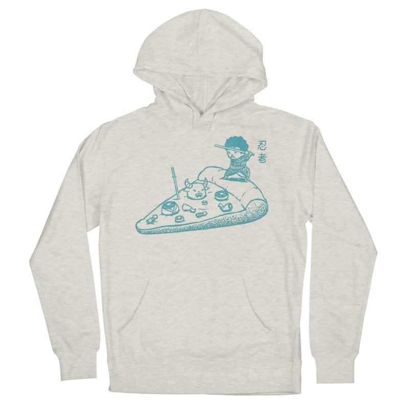 Ninja Pizza Women's Pullover Hoody by Flying Mouse365