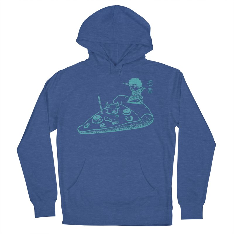 Ninja Pizza Men's Pullover Hoody by Flying Mouse365