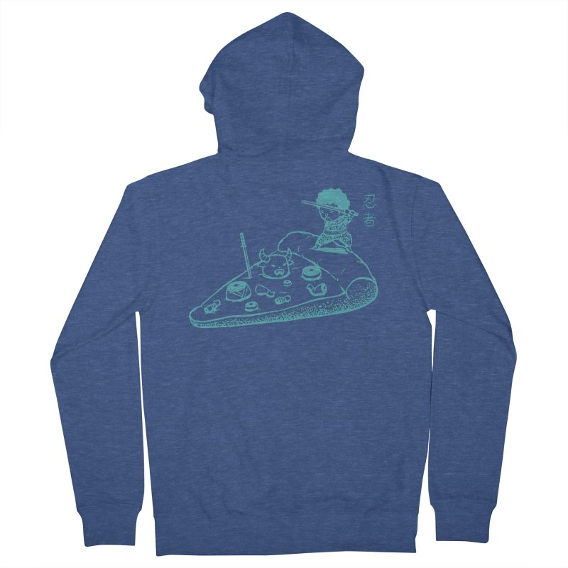 Ninja Pizza Men's Zip-Up Hoody by Flying Mouse365