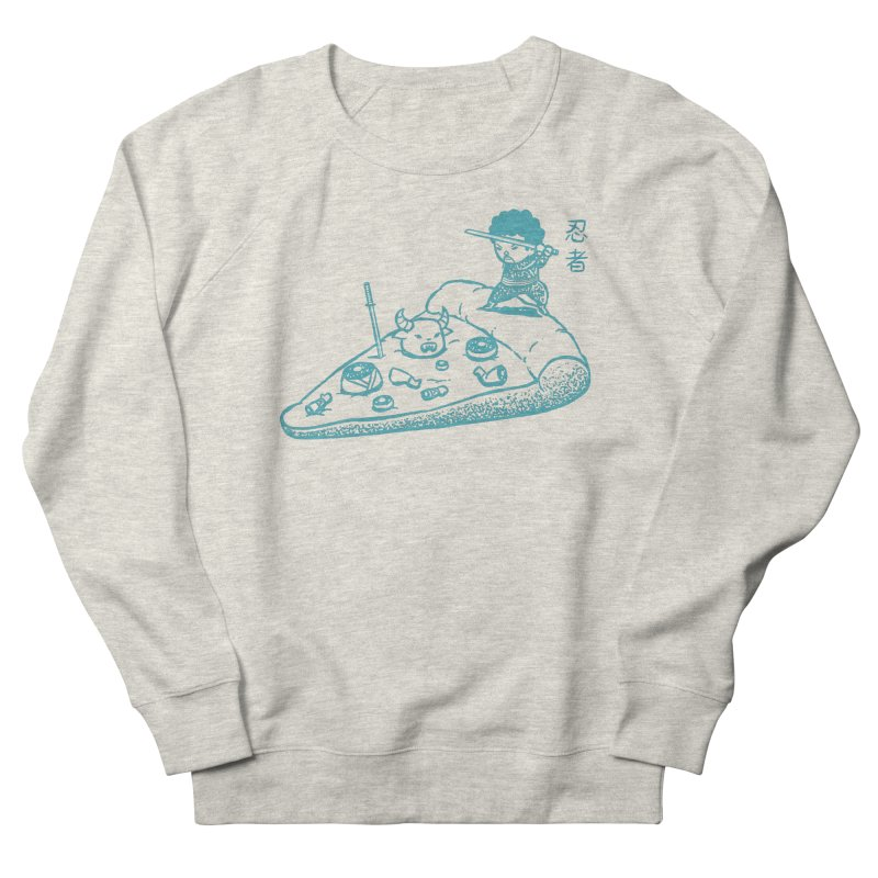 Ninja Pizza Men's Sweatshirt by Flying Mouse365