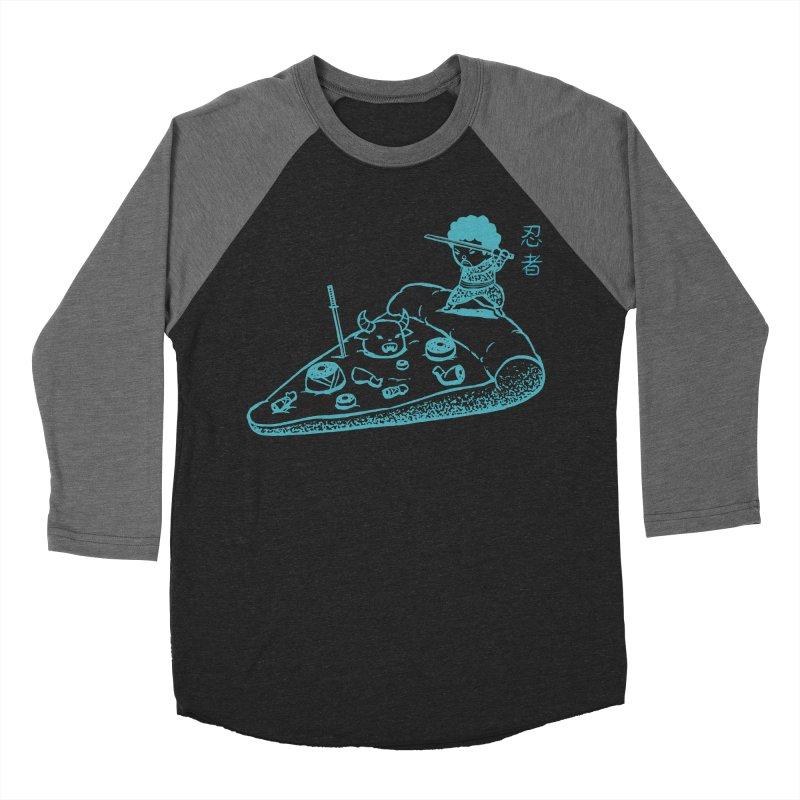 Ninja Pizza Men's Baseball Triblend T-Shirt by Flying Mouse365