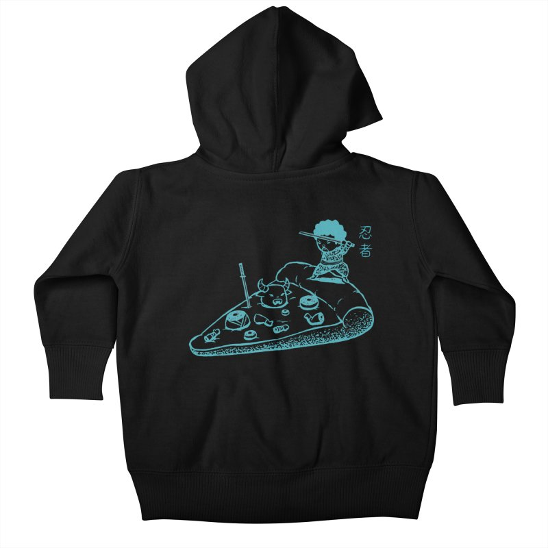 Ninja Pizza Kids Baby Zip-Up Hoody by Flying Mouse365