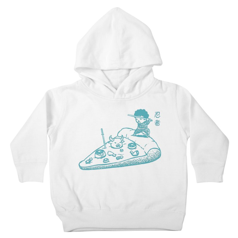 Ninja Pizza Kids Toddler Pullover Hoody by Flying Mouse365