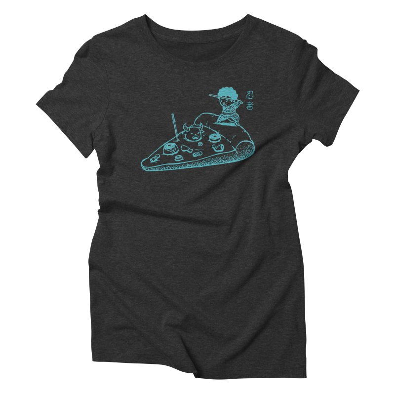Ninja Pizza Women's Triblend T-shirt by Flying Mouse365