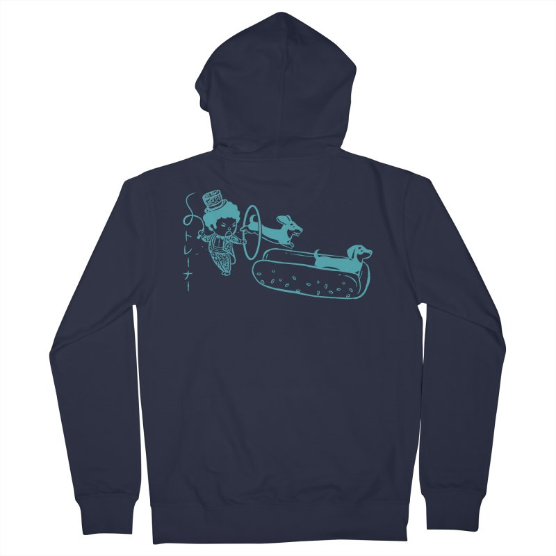 Hot Dog Trainer Men's Zip-Up Hoody by Flying Mouse365