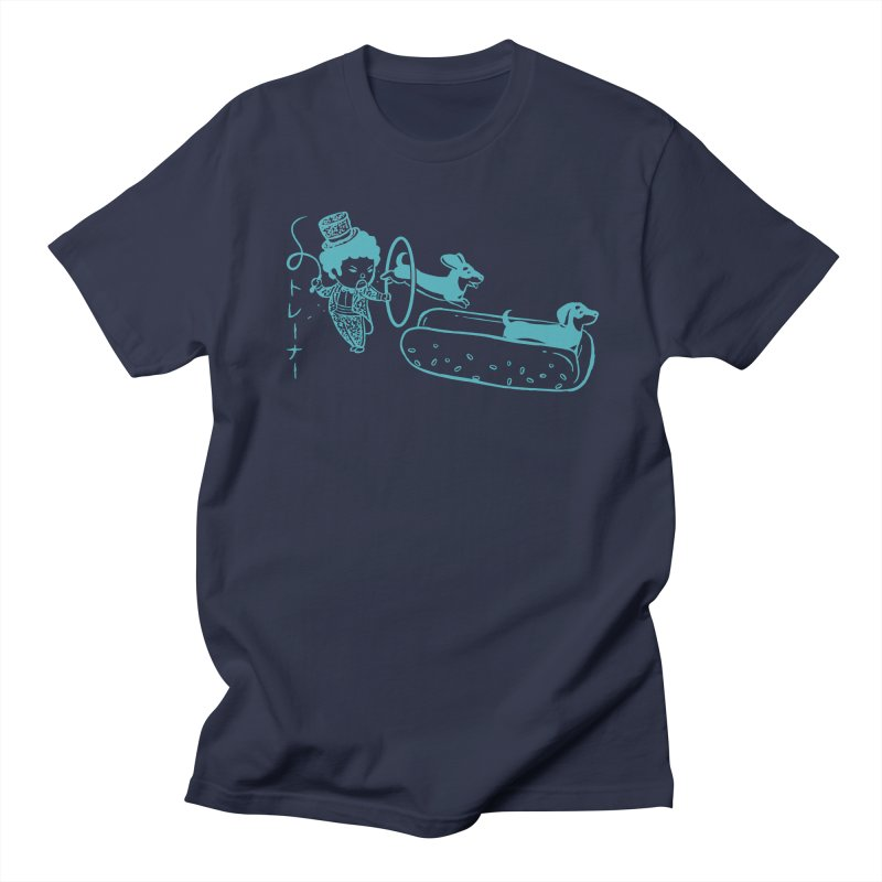 Hot Dog Trainer Men's T-shirt by Flying Mouse365