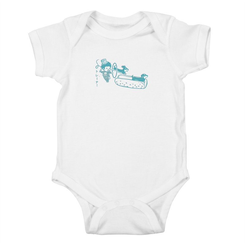 Hot Dog Trainer Kids Baby Bodysuit by Flying Mouse365